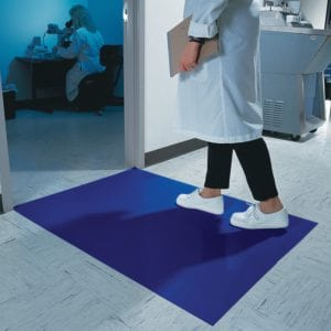 Blue Tacky Mat in Lab