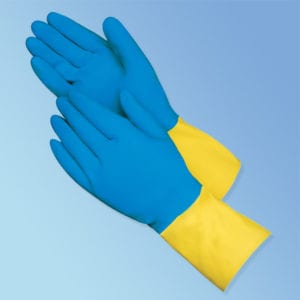 Chemical Resistant Neoprene Coated Latex Gloves