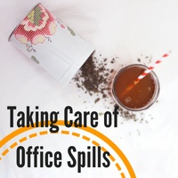 Presaturated Wipes Taking Care of Office Spills
