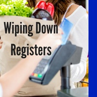 Presaturated Wipes Wiping Down Registers