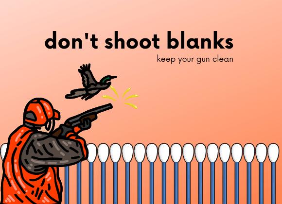 use gun cleaning swabs