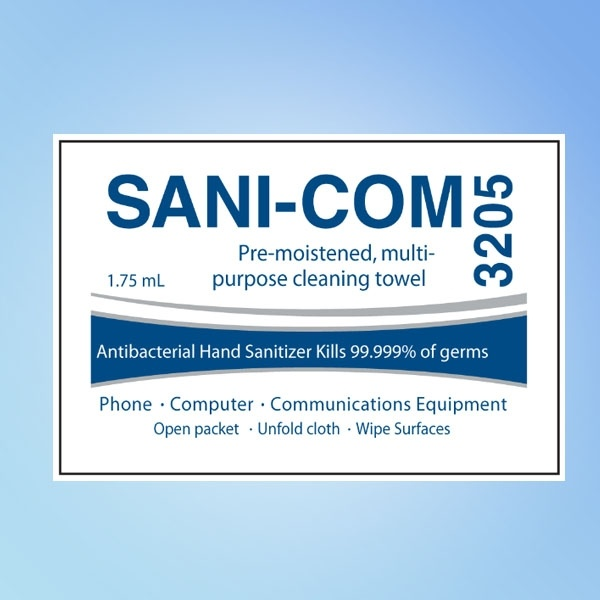 Sani-Com Cleaning Towelettes