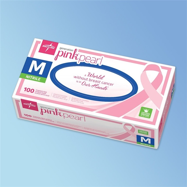Generation Pink Pearl Nitrile Exam Glove with Aloe