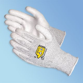 Static Dissipative Cut Resistant Polyurethane Coated Glove, 1/pair
