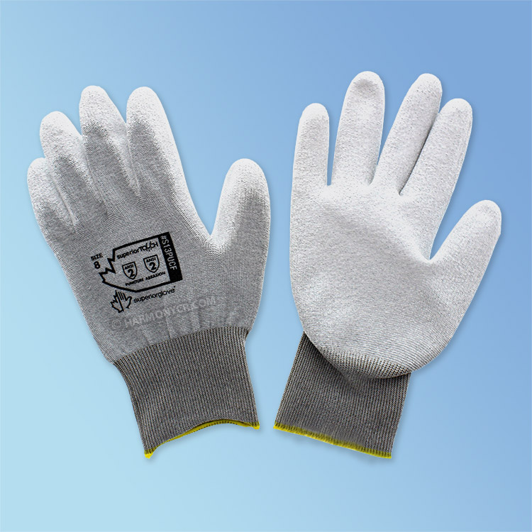 Static Dissipative Ultra-Thin Polyurethane Coated Glove, White/White, 1/pair