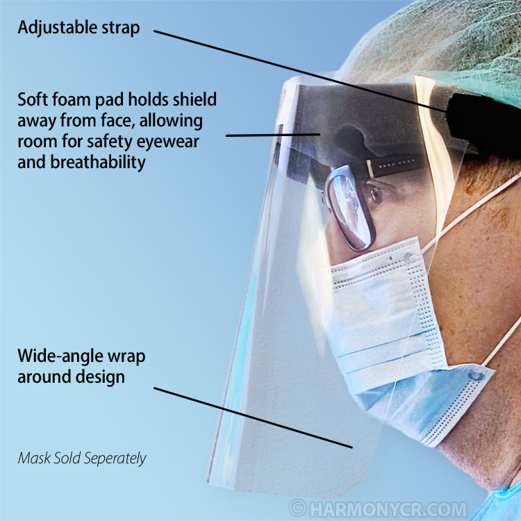 Wrap-Around Face Shield Visor for more Protection