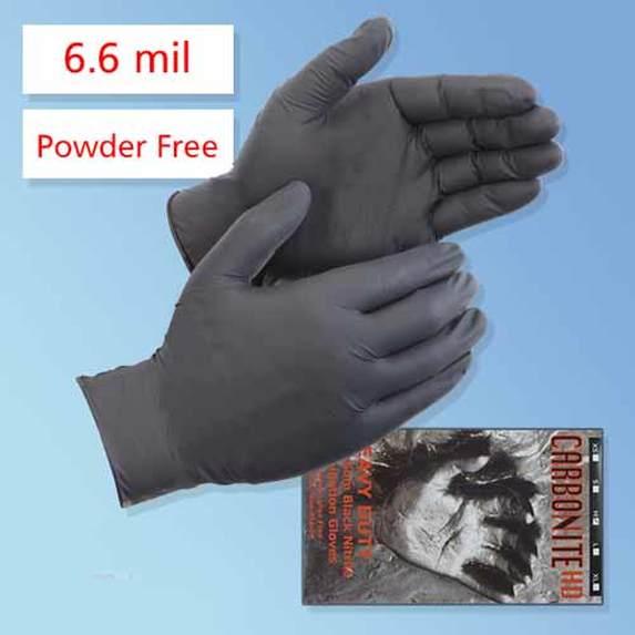 bulk black nitrile tattoo gloves